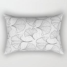 grid in black and petals Rectangular Pillow