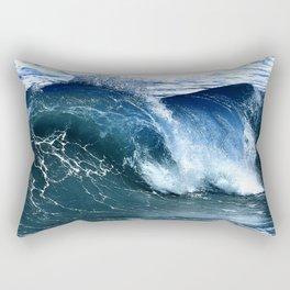 Deep Blue Waves Rectangular Pillow