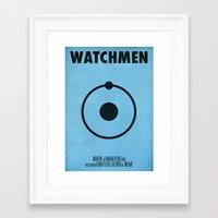 watchmen Framed Art Prints featuring Watchmen - Dr.Manhattan by Fabio Castro