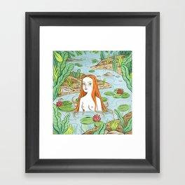 Lady of the pond Framed Art Print