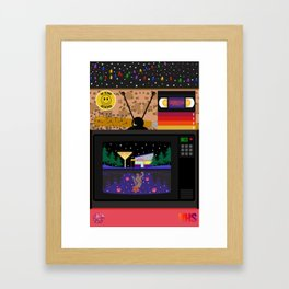 Be kind, rewind. Framed Art Print