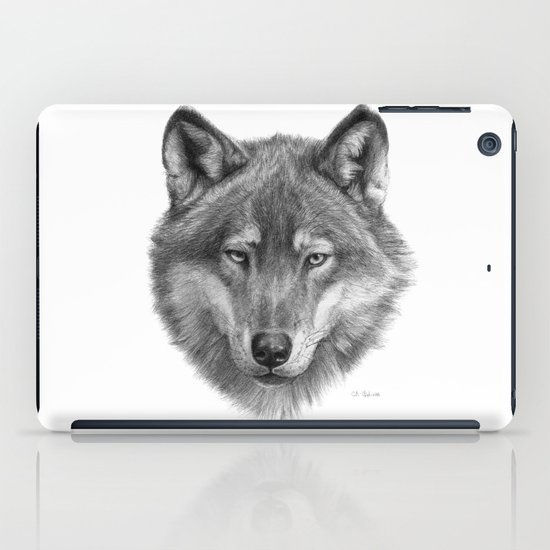 Wolf face G084 iPad Case
