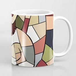 Woman with Kindle #5 Coffee Mug
