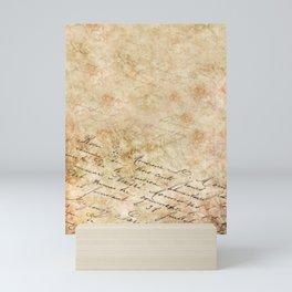 Elegant Script On Parchment Mini Art Print