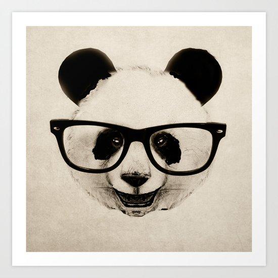 Panda Head Too Art Print