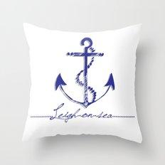 anchor of leigh Throw Pillow