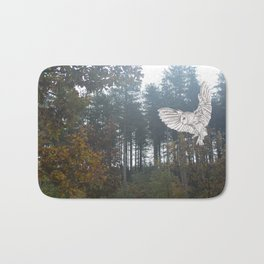 Owl in the Forest Bath Mat