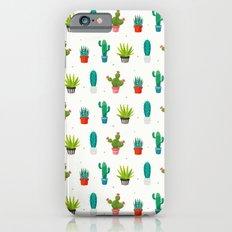 Colorful cactus succulent plant flower nature pattern iPhone 6s Slim Case