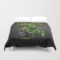 hulk Duvet Covers featuring Hulk by WaXaVeJu