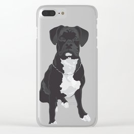 The Black & White Boxer Clear iPhone Case