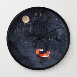 Fox Dream Wall Clock
