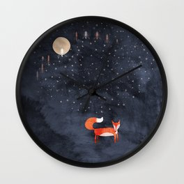 Fox Dream Wall Clock