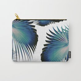 Fan Palm Leaves Paradise #1 #tropical #decor #art #society6 Carry-All Pouch