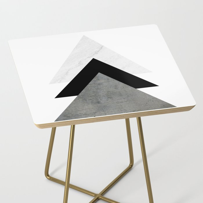 Arrows Monochrome Collage Side Table