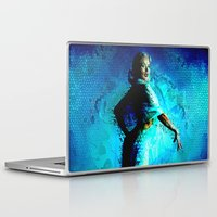 kandinsky Laptop & iPad Skins featuring Static Blonde by Mark Compton