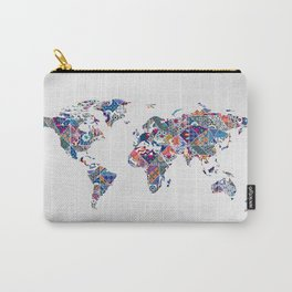 Moroccan Tile Mosaic Pattern World Map Art Carry-All Pouch