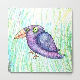 Funny bird Metal Print