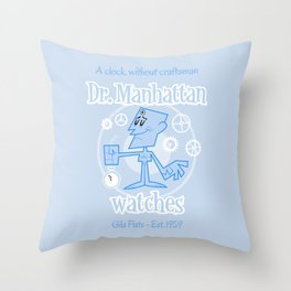 Dr. Manhattan Throw Pillow