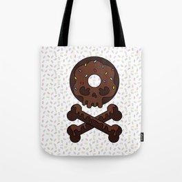 Deathly Delicious Chocolate Doughnut Tote Bag