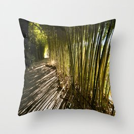 Along the Rothschild Bamboo Trail Throw Pillow
