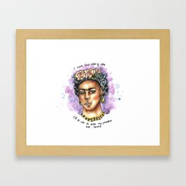 Frida Kahlo Watercolour and Copic - Quote Framed Art Print