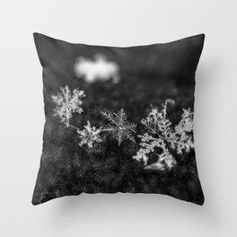 Clump of snowflakes Throw Pillow