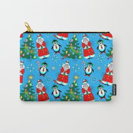 Santa and Penguins Carry-All Pouch