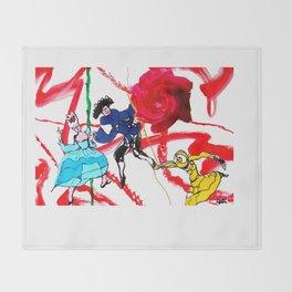 Marin Marais `Le grand Spectre de la Rose'          by Kay Lipton Throw Blanket