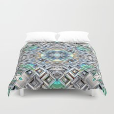 Geometric Metallic Pattern Duvet Cover