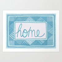 home sweet home Art Prints featuring Home by Anita Ivancenko