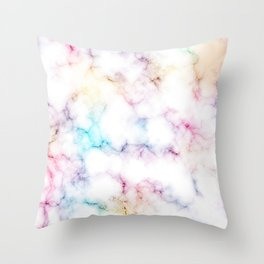 Rainbow Marble Pattern Throw Pillow