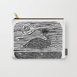 Egret Block Print Carry-All Pouch