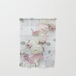 SPRING FLOWERS WHITE & PINK Wall Hanging