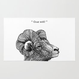 "TYPOANIMAL -  ""Goat wifi?"" Rug"
