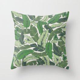 Savusavu Tropical Print Throw Pillow