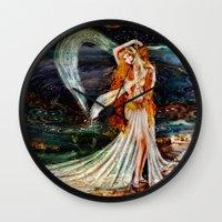 venus Wall Clocks featuring Venus  by ShekariArt
