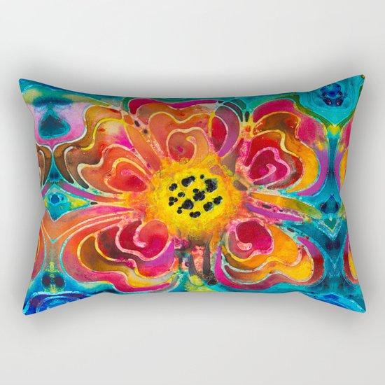 Summer Love Flower Art By Sharon Cummings Rectangular Pillow