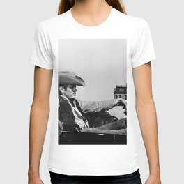 Mr. Dean in Cowboy Hat Classic Hollywood Iconic black and white photograph T-shirt