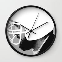stanley kubrick Wall Clocks featuring Stanley Kubrick by MORPHEUS