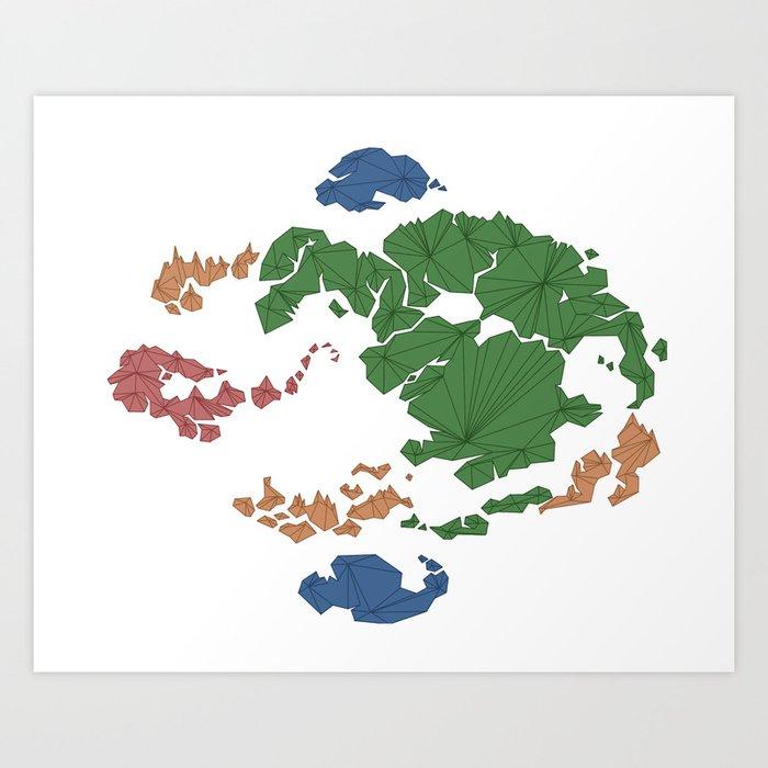 Radsters Avatar Last Airbender Huge World Map The Hou Tian - Avatar the last airbender us map