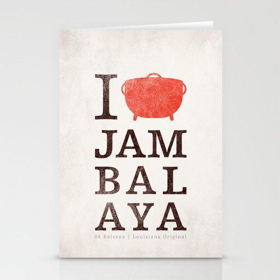 I Heart Jambalaya Stationery Cards