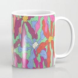 Colorful Retro Floral Print Coffee Mug