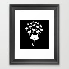 minima - cat rain Framed Art Print