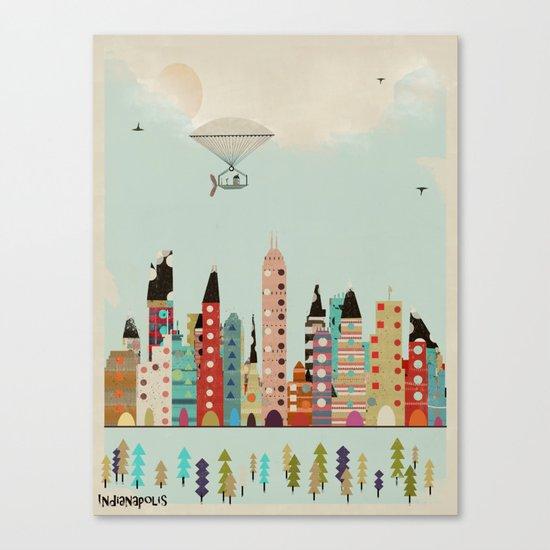 visit Indianapolis Indiana Canvas Print