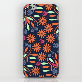 Floral contrast iPhone Skin