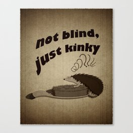 Not blind, just kinky! Canvas Print