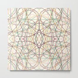 Fafnir - Colorful Decorative Abstract Art Pattern Metal Print