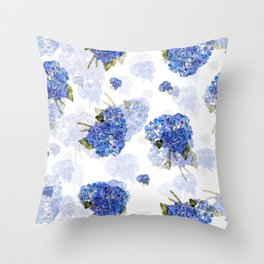 Cape Cod Hydrangea Nosegays Throw Pillow