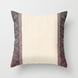 Kashmir North Indian Shawl Print Throw Pillow