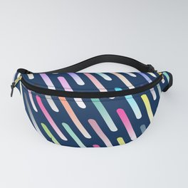 Abstract cosmic rain Fanny Pack